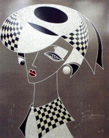 Wistful Elegance/Silver Lady PP Embellished Limited Edition Print by Martiros Martin Manoukian