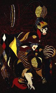 Ironic Jester 2004 72x53 Original Painting - Martiros Martin Manoukian