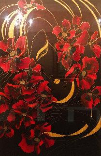 Passionate Embrace 2002 75x56 Original Painting - Martiros Martin Manoukian