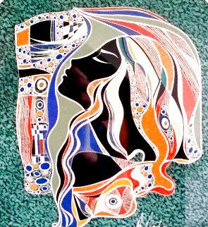 Untitled Mixed Media 2004 14x12 Works on Paper (not prints) - Martiros Martin Manoukian
