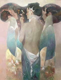 Croquettes 53x43  Original Painting - Felix Mas