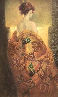 Golden Robe Embellished Limited Edition Print - Felix Mas