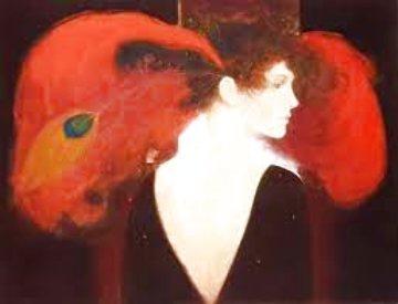 Crimson Feathers Limited Edition Print - Felix Mas