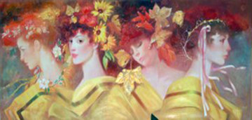 Four Seasons Embellished Limited Edition Print - Felix Mas