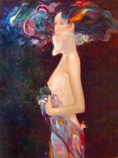 Sinfonia De Color 1980 44x39 Original Painting - Felix Mas