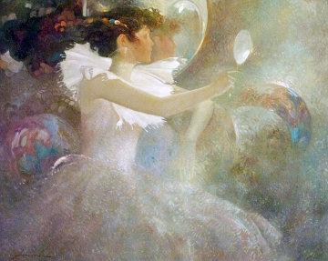 Reflections 40x50 Super Huge Original Painting - Felix Mas