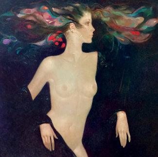 Leda 43x38  Original Painting - Felix Mas