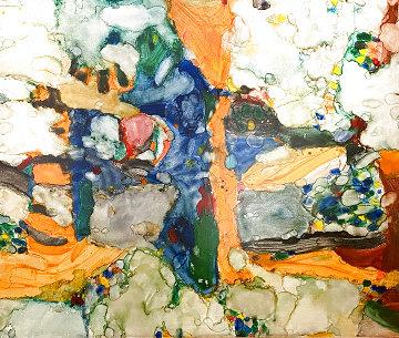 Dream Drummer 1975 70x82  Huge Original Painting - Alden Mason