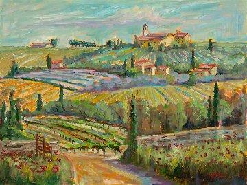 Spring on the Vine 2018 22x28 Original Painting - Marie Massey