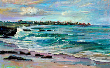 Dreams of Spanish Bay 2019 27x39 Original Painting - Marie Massey