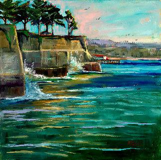 Opal Cliffs 2019 18x18 Original Painting - Marie Massey