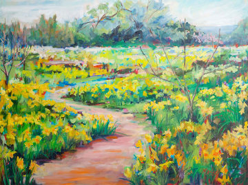 Suenos De Primavera 2010 36x48 Super Huge Original Painting - Marie Massey