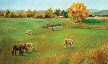 Arroyo Grande 2005 36x40 Original Painting - Marie Massey