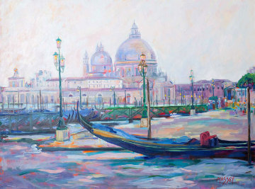 Venetian Twilight 2009 30x40 Original Painting - Marie Massey