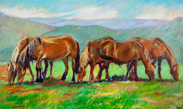 Bucking the Trend 2011 Original Painting by Marie Massey