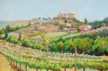 Tuscan Vines 24x36 Original Painting - Marie Massey
