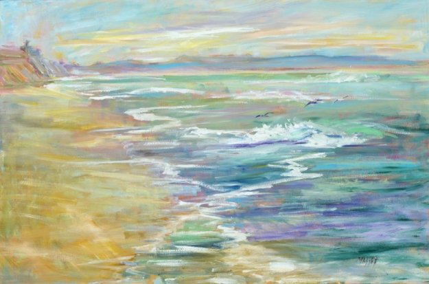 Homeward Bound  2015 24x36  Original Painting by Marie Massey