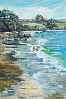 Pebble Beach Pastime 2015 30x20  Original Painting - Marie Massey