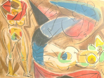 Figure Rouge Limited Edition Print by Andre Masson