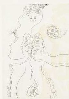 Le Fil De Ariane 1974 Limited Edition Print - Andre Masson