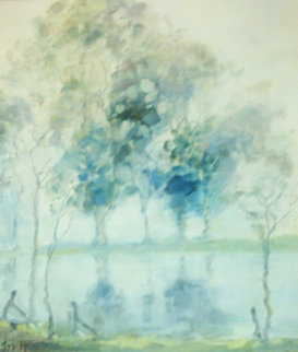 Mist Over the Murray 12x10 Original Painting - Sydney Mather