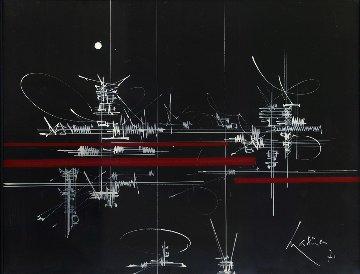 L'Enfant 1971  30x24 Original Painting - Georges Mathieu