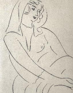 Jeune Femme, Voile Sur La Tete 1929  Limited Edition Print - Henri Matisse
