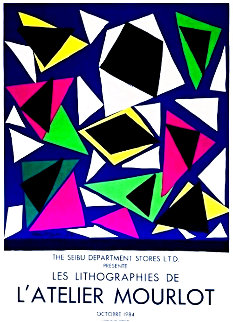Atelier Mourlot Cut Outs Exhibition Poster 1987 Limited Edition Print - Henri Matisse