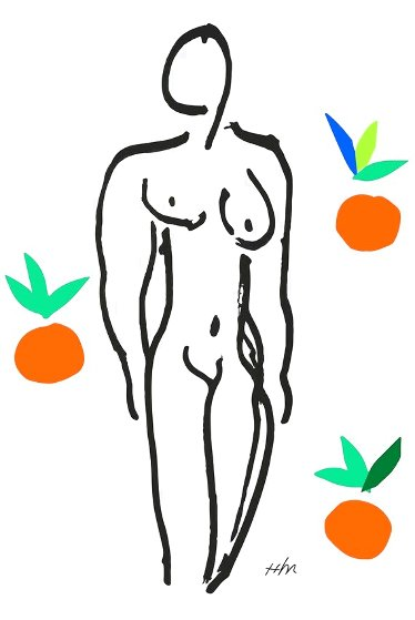 Le Nu Aux Oranges (Nude With Oranges) Limited Edition Print by Henri Matisse