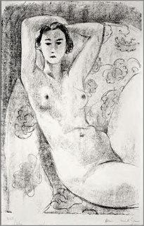 Nu Assis Dans Un Fauteuil Au Decor Fleuri 1924 Limited Edition Print - Henri Matisse