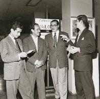 Leo With Botero, Carpena And  Arboleda 1945 Photography by Leo Matiz - 0