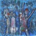 L'oeuf Du Verbe Voir, Penser L'invisible, Etoile Des Jardins, Triptych 3 (etchings) 1995 Limited Edition Print - Roberto Sebastian Matta
