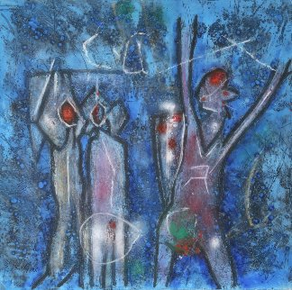 L'oeuf Du Verbe Voir, Penser L'invisible, Etoile Des Jardins, Triptych 3 (etchings) 1995 Limited Edition Print by Roberto Sebastian Matta
