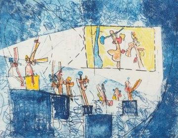 Le Cinema (From Scenes Famileres) 1962 Limited Edition Print by Roberto Sebastian Matta