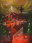 Je Fixe Des Vertiges (plate 1) From the Saison En Enfer Portfolio 1977 Limited Edition Print - Roberto Sebastian Matta