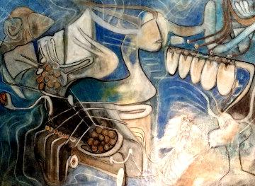 Concepcion En El Cosmos 1965 65x47 Super Huge  Original Painting - Roberto Sebastian Matta