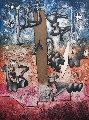 Untitled Etching 1975 Limited Edition Print - Roberto Sebastian Matta