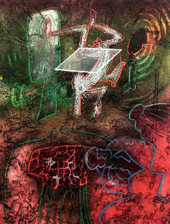 Seasons From Hell, Damne Par l'arc En-ciel 1976 Limited Edition Print - Roberto Sebastian Matta