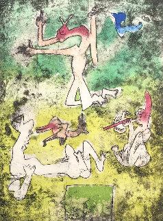 Centre Noeds - Plate I 1974 Limited Edition Print - Roberto Sebastian Matta
