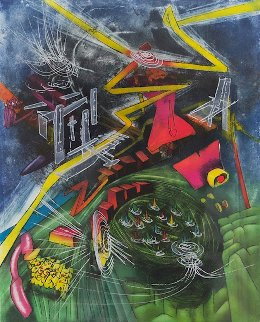 Pyrocentre 1980 Limited Edition Print by Roberto Sebastian Matta