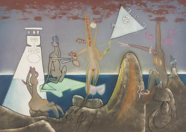 Four Am From l'Arc Obscur Des Heures  1975 Limited Edition Print by Roberto Sebastian Matta