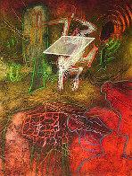 Damne Par L'arc-en-ciel (Plate 5) From the Saison En Enfer Portfolio 1977 Limited Edition Print by Roberto Sebastian Matta - 0