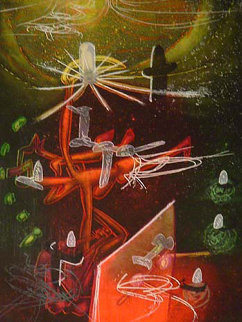Je Fixe Des Vertiges, From The Saison En Enfer Portfolio 1977 Limited Edition Print - Roberto Sebastian Matta