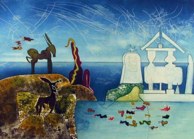 Hours of the Day Series, 8 A.M. 1975 Limited Edition Print by Roberto Sebastian Matta