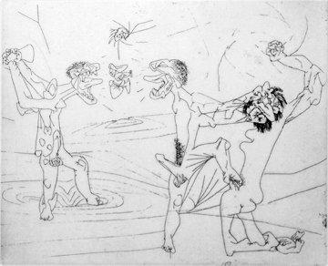Untitled (From the New School Portfolio) 1947 (Early) Limited Edition Print by Roberto Sebastian Matta