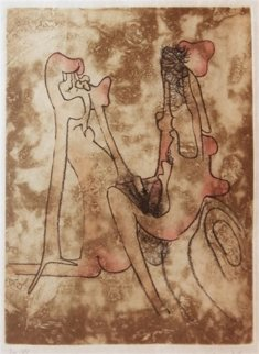 Unititled Etching From the Paroles Peintes Suite 1971 Limited Edition Print by Roberto Sebastian Matta