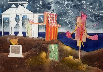 12 Pm From l'arc Obscur Des Heures 1975 Limited Edition Print by Roberto Sebastian Matta