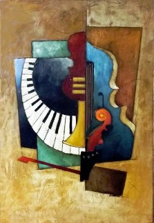 Orchestration 2000 34x48 Original Painting - Emanuel Mattini