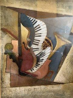 Untitled Collage 1997 47x37 Original Painting - Emanuel Mattini