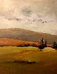 Silent Harvest 2001 49x39 Original Painting - Emanuel Mattini